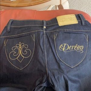 Dereon Supa Fly Skinny Jeans dark wash